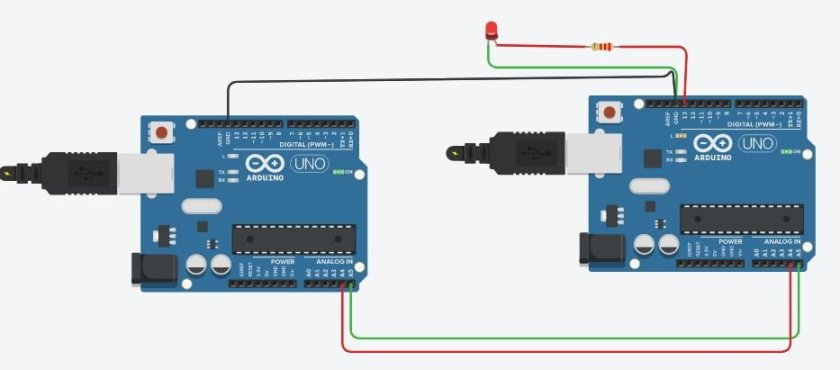I2C communication between two Arduino boards