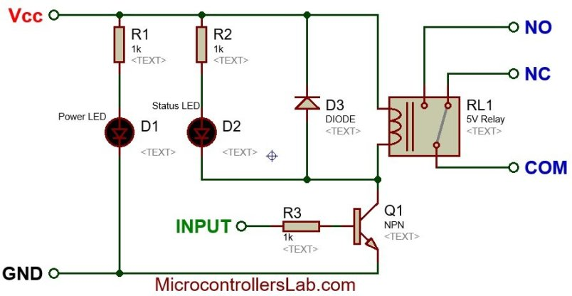 5V single channel relay module internal circuit diagram