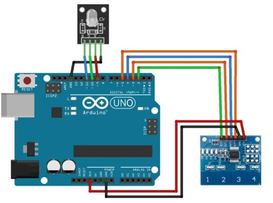 TTP224 interfacing with Arduino
