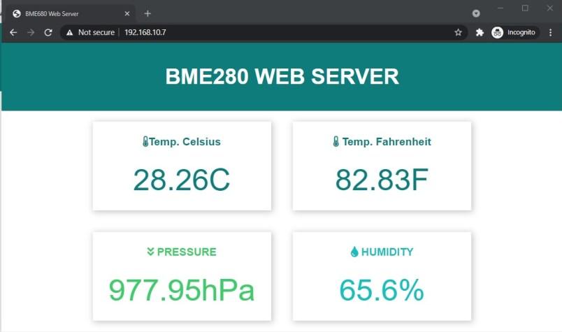 BME280 web server esp32 esp8266 micropython demo