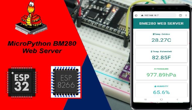 BME280 web server esp32 esp8266 micropython