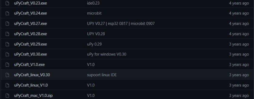 Download upycraft IDE for esp32 and esp8266