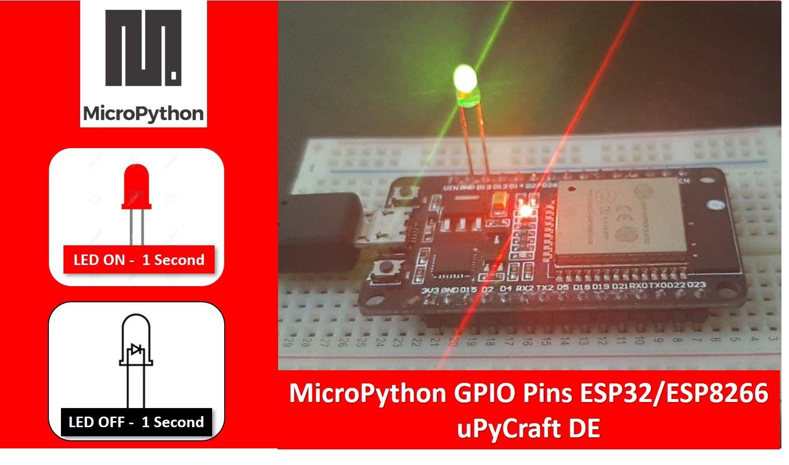 ESP32 GPIO pins programming micropython