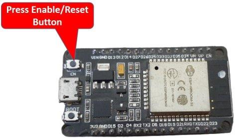 ESP32 enable reset button