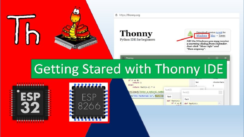 Getting started with thonny IDE for ESP32 and ESP8266