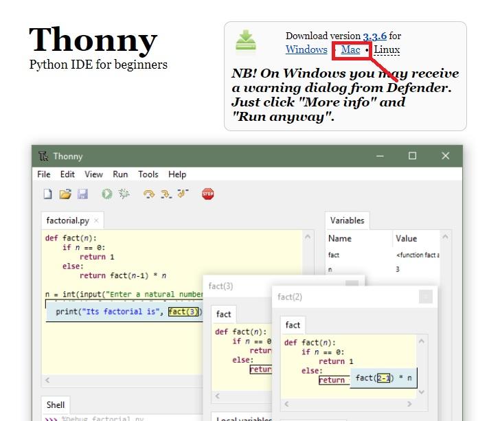 Installing Thonny IDE Mac OS X 6