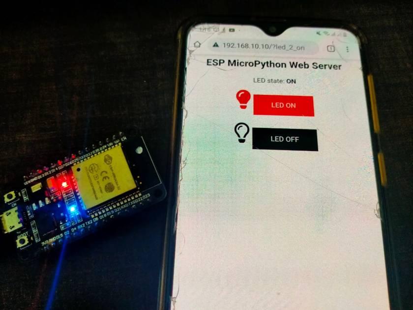 MicroPython ESP32 ESP8266 Web server demo