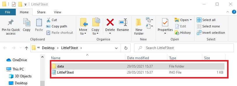 ESP8266 Nodemcu sketch folder data Arduino IDE
