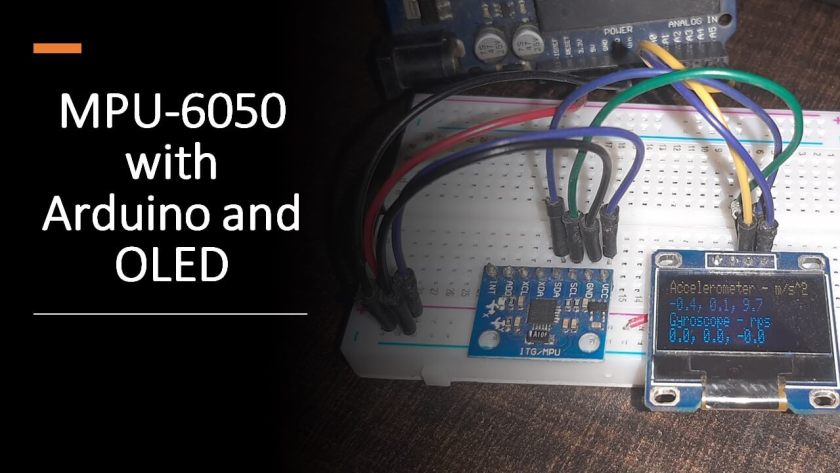 MPU6050 interfacing with Arduino and Display values on SSD1306 OLED
