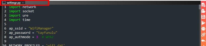 micropython wifi manager library upload upycraft ide 4