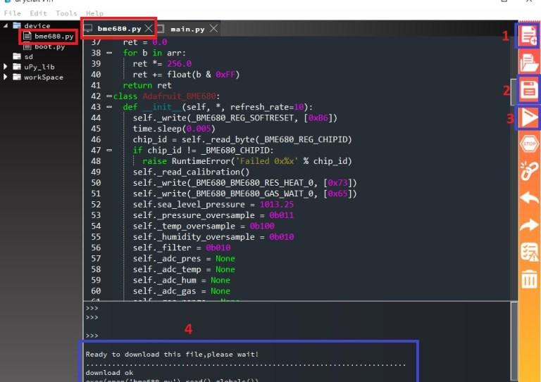 upload bme680 library to esp32 esp8266 nodemcu upycraft ide