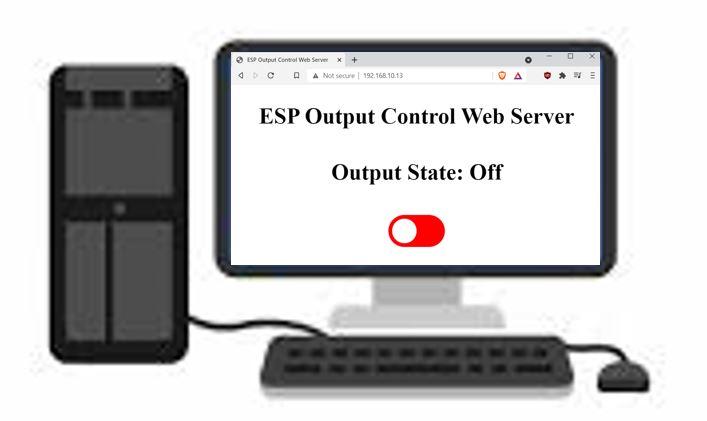 ESP web server & push button