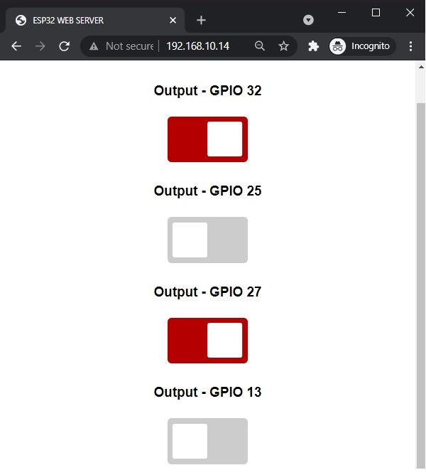 ESP32 Async Web Server Control Outputs with Arduino IDE