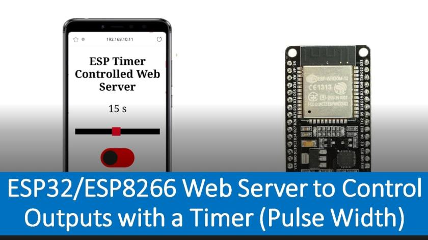 ESP32 ESP8266 Web Server to Control Outputs with a Timer (Pulse Width)