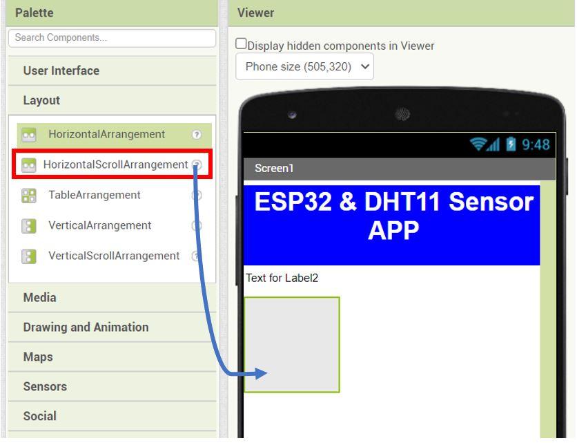 ESP32 Google Firebase build your own app MIT Inventor 5