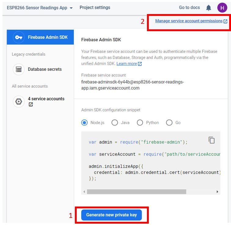 ESP8266 Google Firebase build your own app 4
