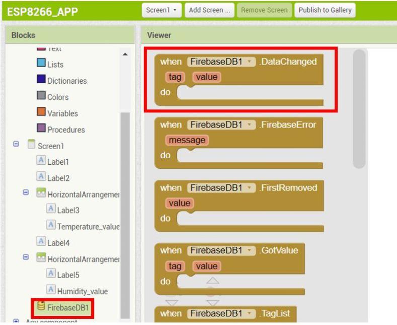 ESP8266 Google Firebase build your own app MIT Inventor 15