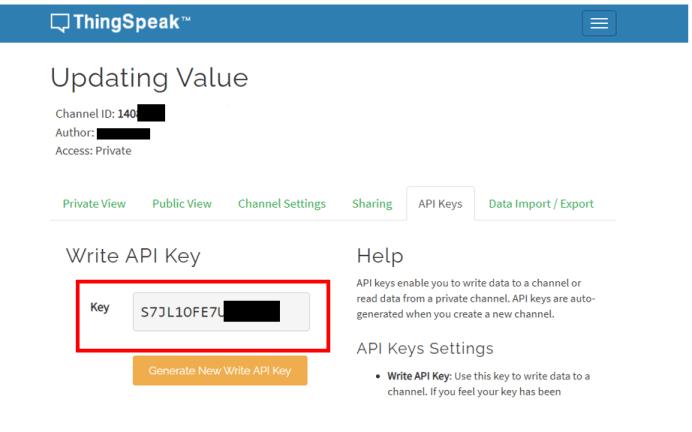 HTTP GET ThingSpeak API key