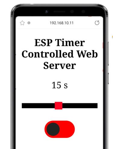 Timer Web Server web page ESP32 and ESP8266