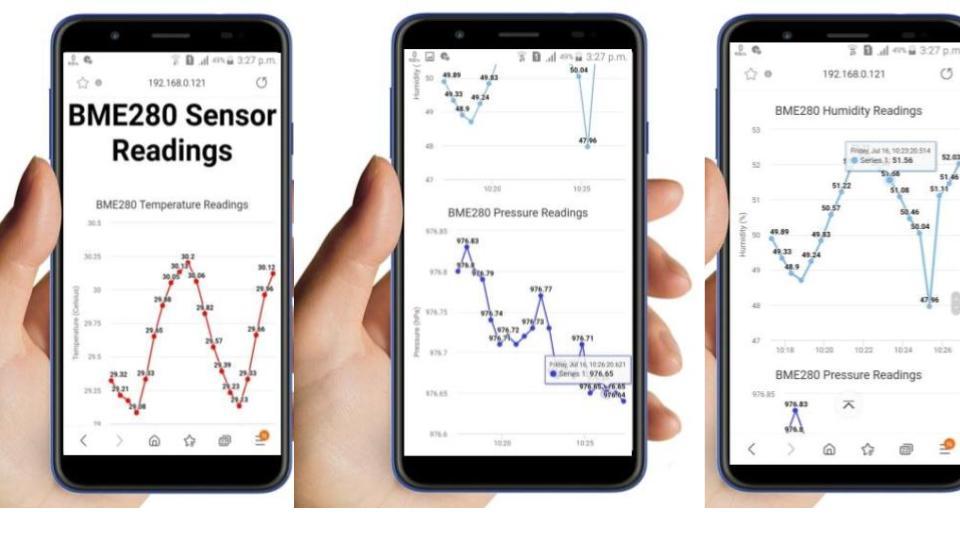 ESP32 ESP8266 Plot Sensor Readings in Real Time Charts Web Server
