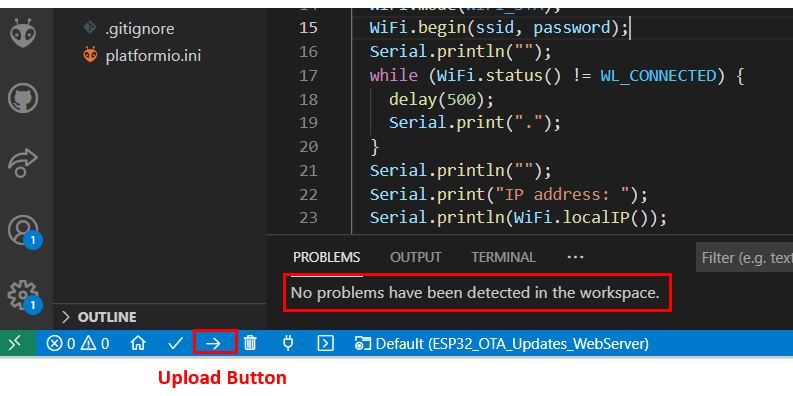 ESP32 OTA Updates VS Code Example1 pic3