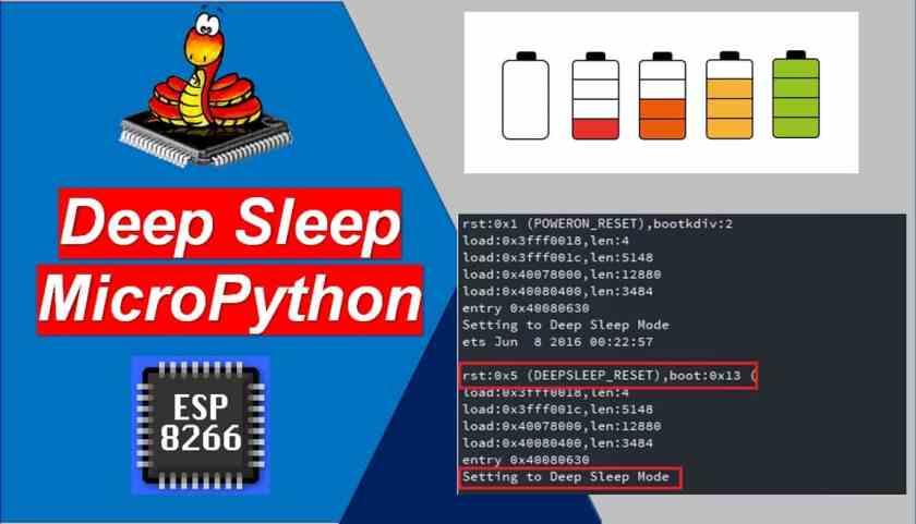 ESP8266 Deep Sleep and Wake Up Sources using MicroPython