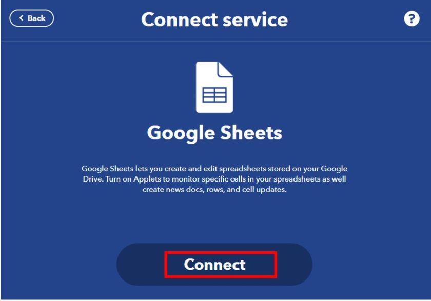 Publish sensor readings to Google Sheets IFTTT4