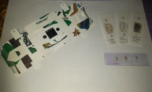Foldscope with Sample Slides Created By SPIE Techno India Team