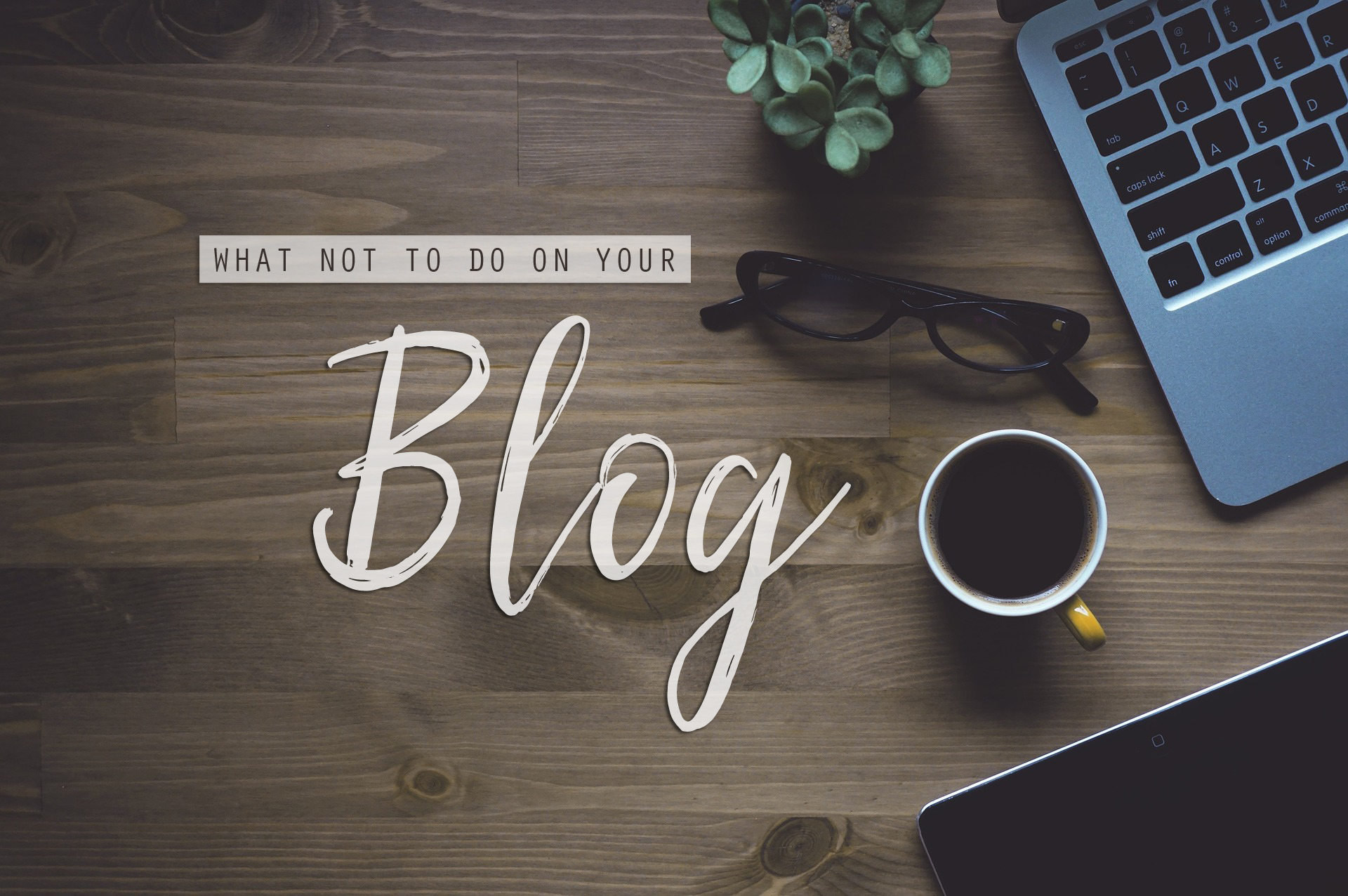 How not to set up your blog layout