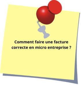 micro-entrepreneur : comment faire une facture correcte?