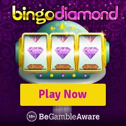 Bingo Diamond Casino £100 bonus cash and 50 free spins - new players!