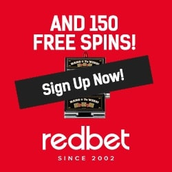 Redbet Casino | 150 free spins & €300 free bonus | review