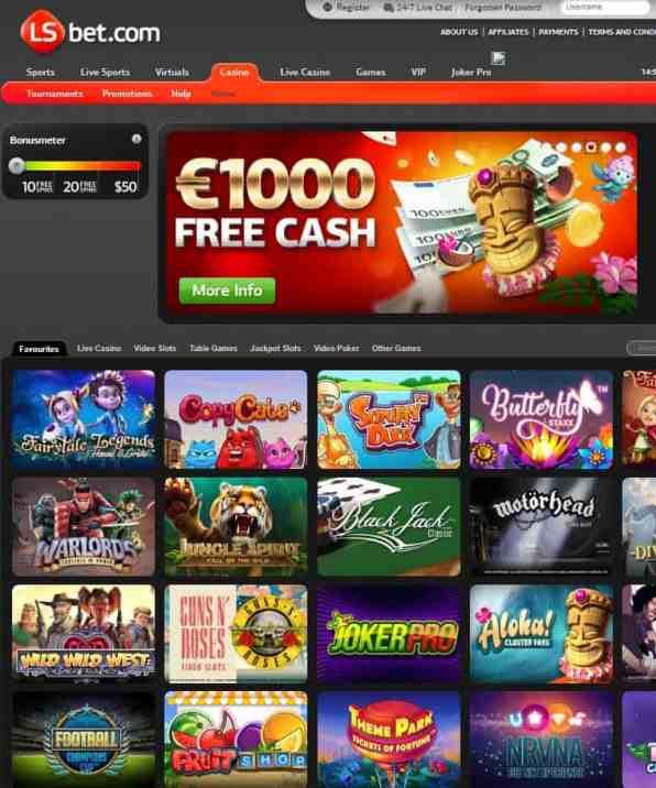 LS Bet Casino free spins bonus