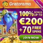 Gratorama Casino – 7€ free bonus money or 70 gratis spins – no deposit!