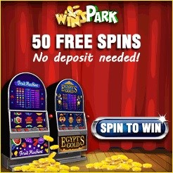 WinsPark Casino €5 free bonus or 50 free spins – no deposit scratchcards