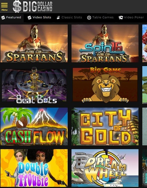 Big Dollar Casino free bonus code