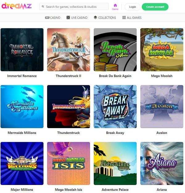 Dreamz Casino Review