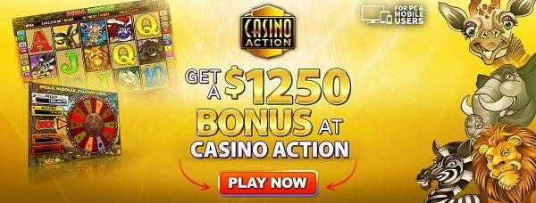 $1250 free credits for new players to the casino