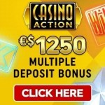 Get €1250 free spins welcome bonus to Casino Action!