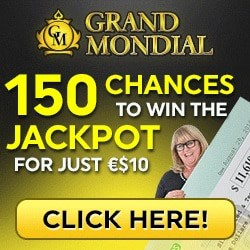 Play 150 free spins on Mega Moolah at Grand Mondial Casino!