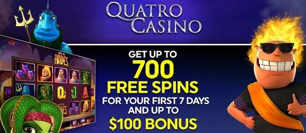 700 gratis spins on Quatro Online Casino