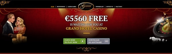 Grand Hotel Casino Welcome Bonus