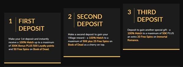 Jackpot Village - deposit bonuses