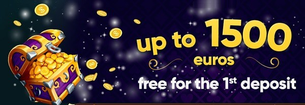 100% up to 1500 EUR + 200 free spins / 1st deposit