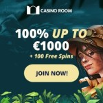 How to get 100 free spins & 1000€ free bonus to Casino Room?