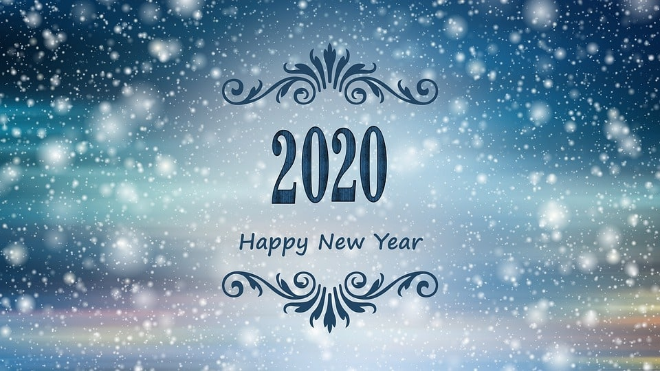 New Year Card Happy New Year 2020