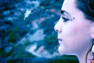 photo manipulation of a girl in dreamy effect by nisha gandhi