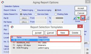 Aging Report Options