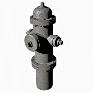 1:48 Fire Hydrant Model 1962 Ver2