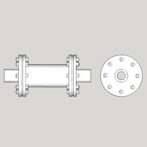 1:48 Flanged Coupling-Long
